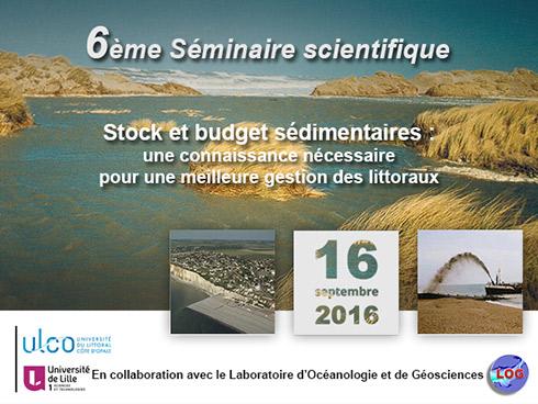 6ème séminaire scientifique du Réseau d'Observation du littoral Normand et Picard